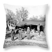 Gyspy Encampment, C1900 Throw Pillow