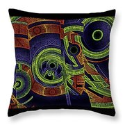 H Abs Lizzy Tail Wd2 Throw Pillow