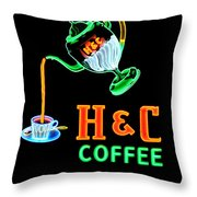 H And C Sign Throw Pillow