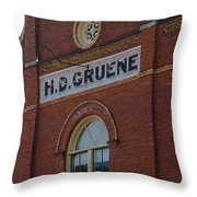 H D Gruene Throw Pillow