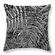 H Ferns Cont Z Throw Pillow