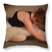 H Oil First Morning Stretch Throw Pillow
