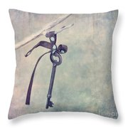 Key With A Ribbon Throw Pillow