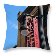 H Street Throw Pillow