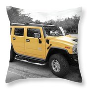 Hummer H2 Series Yellow Throw Pillow