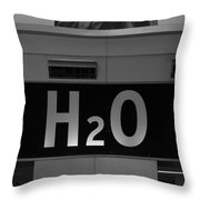 H2o In Black And White Throw Pillow