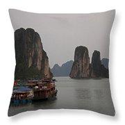 Ha Long Bay   Vietnam   #0521 Throw Pillow