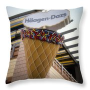Haagen Dazs Ice Cream Signage Downtown Disneyland 01 Throw Pillow