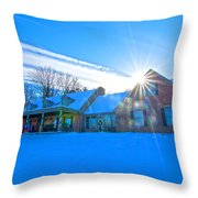 Haas Winter Shoot Dec 11 13 Throw Pillow