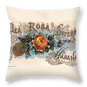 Habana Cigar Label Throw Pillow