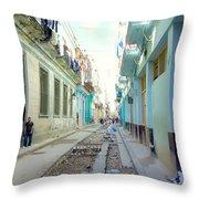 Habana Street Throw Pillow