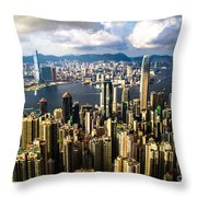 Habour View Throw Pillow