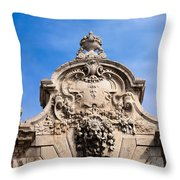 Habsburg Gate Details In Budapest Throw Pillow