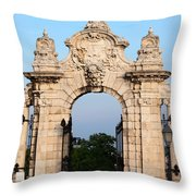 Habsburg Gate In Budapest Throw Pillow