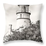 Haceta Head Lighthouse 2 Throw Pillow