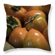 Hachiya Persimmons Throw Pillow