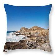 Hacienda Cerritos On The Pacific Ocean Throw Pillow