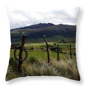 Hacienda El Porvenir Ranch View Throw Pillow