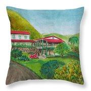 Hacienda Gripinas Old Coffee Plantation Throw Pillow