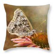 Hackberry Emperor Butterfly 2 Throw Pillow