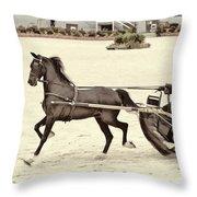 Hackney Pony Cart Throw Pillow