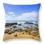 Hadera Mediterranean Beach Throw Pillow