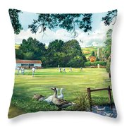Hadlow Cricket Club Throw Pillow
