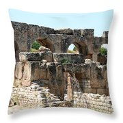 Hadrian's Baths Throw Pillow