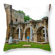 Hadrian's Gate In Antalya-turkey Throw Pillow
