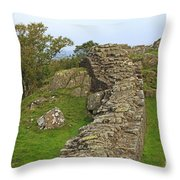 Hadrian's Wall Near Walltown Quarry Throw Pillow