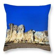 Hagar Qim Stone Temple, Malta Throw Pillow