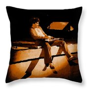 Hagar Rocking In Spokane On 2-2-77 Throw Pillow