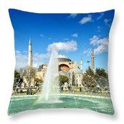 Haghia Sophia Fountain 02 Throw Pillow