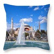 Haghia Sophia Fountain Throw Pillow
