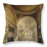 Haghia Sophia, Plate 24 Interior Throw Pillow by Gaspard Fossati