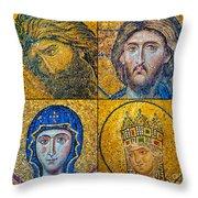Hagia Sofia Mosaics Throw Pillow
