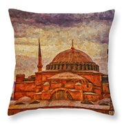 Hagia Sophia Digital Painting Throw Pillow