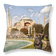 Hagia Sophia Editorial Throw Pillow by Antony McAulay