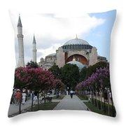Hagia Sophia I - Istanbul - Turkey Throw Pillow