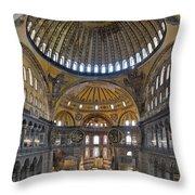 Hagia Sophia Museum In Istanbul Turkey Throw Pillow