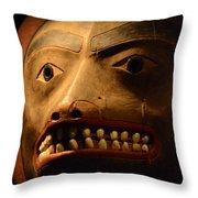 Tlingit Mask Throw Pillow