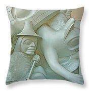 Haida Sculpture Closeup In Canadian Museum Of Civilization In Gatineau-quebec-canada Throw Pillow