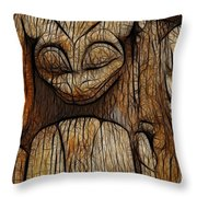 Haida Totem Throw Pillow by Bob Christopher