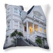 Haight Ashbury White Home Throw Pillow