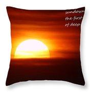 Haiku Sundown Throw Pillow