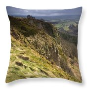 Hailstorm In The Distance Throw Pillow