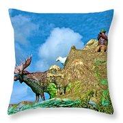 Haines Junction Landmark-yt Throw Pillow