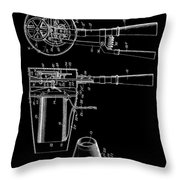 Hair Dryer 2 Patent Art 1911 Throw Pillow