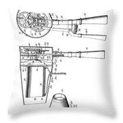 Hair Dryer 3 Patent Art 1911 Throw Pillow