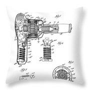 Hair Dryer 3 Patent Art 1931 Throw Pillow